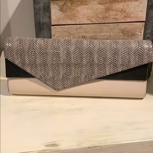 BCBGMaxAzria Long Leather Clutch Purse